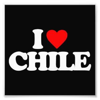 I LOVE CHILE PHOTOGRAPH