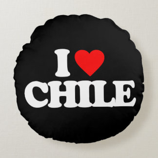 I LOVE CHILE ROUND PILLOW