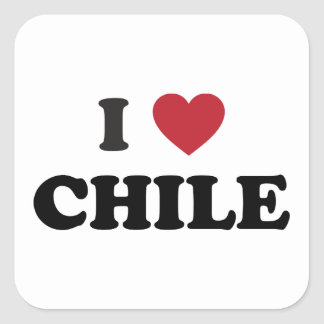 I Love Chile Square Sticker
