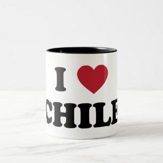 I Love Chile Two-Tone Coffee Mug