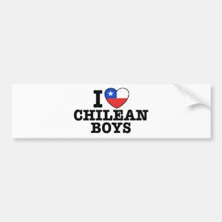 I Love Chilean Boys Bumper Sticker