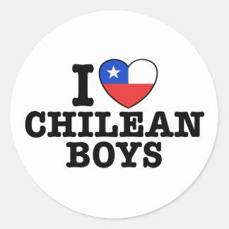I Love Chilean Boys Classic Round Sticker