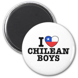 I Love Chilean Boys Fridge Magnets