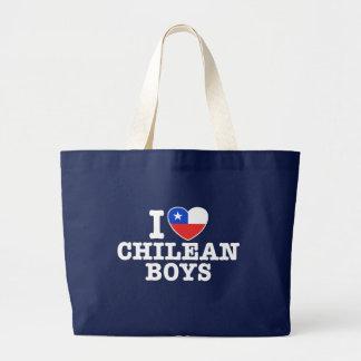 I Love Chilean Boys Jumbo Tote Bag