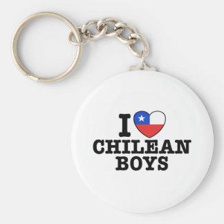 I Love Chilean Boys Keychain