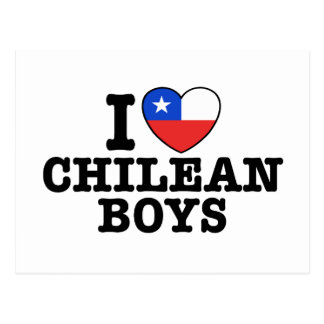 I Love Chilean Boys Postcard