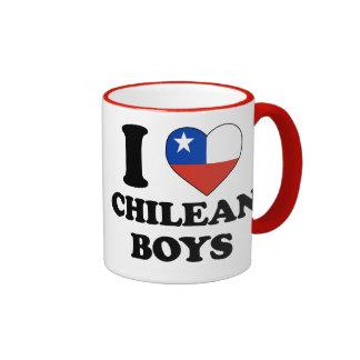I love Chilean Boys Ringer Mug
