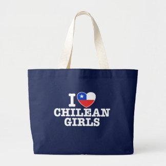 I Love Chilean Girls Jumbo Tote Bag