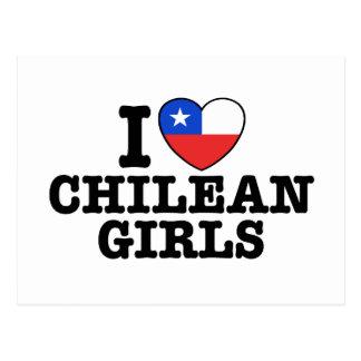 I Love Chilean Girls Postcard