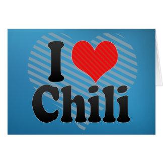 I Love Chili Card