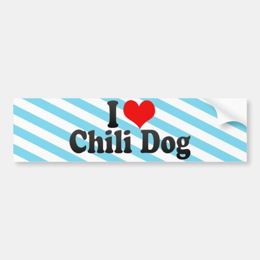 I Love Chili Dog Bumper Sticker