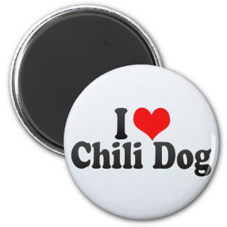 I Love Chili Dog Magnet