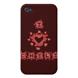 I Love Chili iPhone Case iPhone 4/4S Covers
