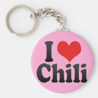 I Love Chili Keychain