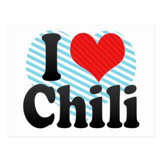 I Love Chili Postcard
