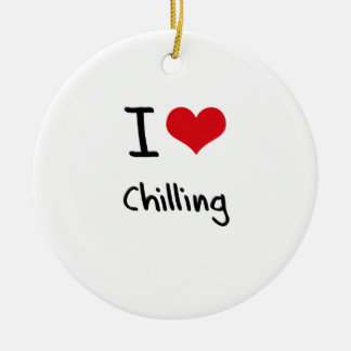 I love Chilling Christmas Ornaments