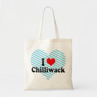 I Love Chilliwack Canada Canvas Bags