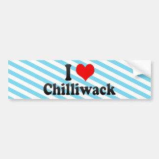 I Love Chilliwack Canada Bumper Sticker