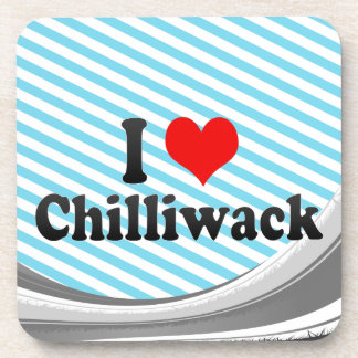 I Love Chilliwack Canada Beverage Coaster