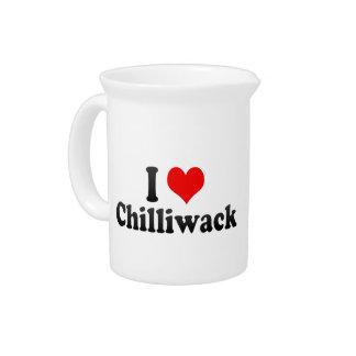 I Love Chilliwack Canada Drink Pitchers