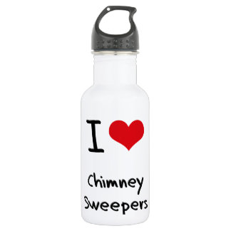 I love Chimney Sweepers 18oz Water Bottle