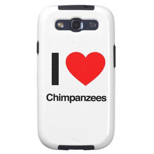 i love chimpanzees samsung galaxy SIII covers
