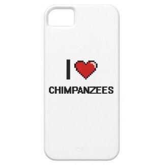 I love Chimpanzees Digital Design iPhone 5 Case
