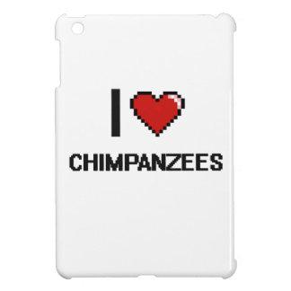 I love Chimpanzees Digital Design iPad Mini Covers