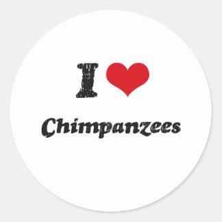 I love Chimpanzees Stickers