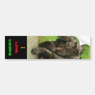I love chimps - Sticker