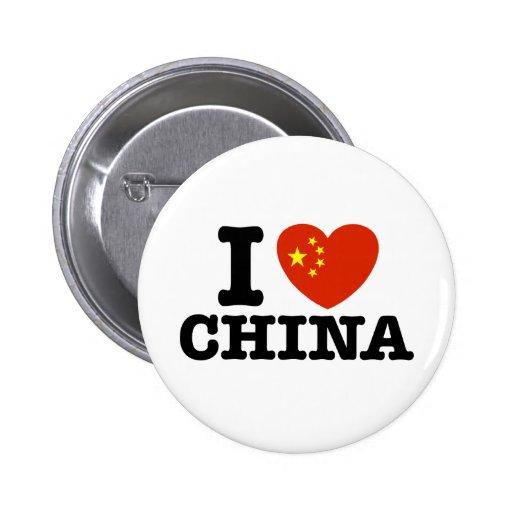 I Love China 2 Inch Round Button