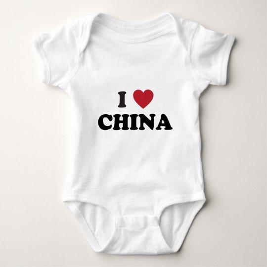 I Love China Baby Bodysuit