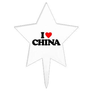 I LOVE CHINA CAKE TOPPER