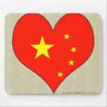 I Love China Mouse Pad