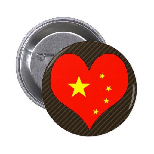 I Love China Pinback Button