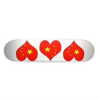 I Love China Skate Board Deck