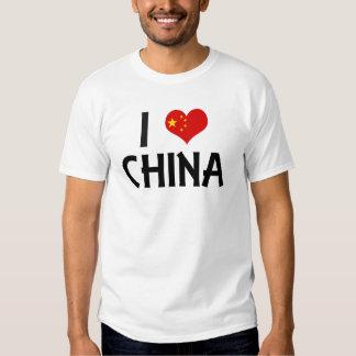 I Love China T Shirt
