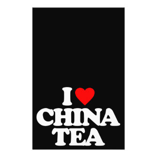 I LOVE CHINA TEA PERSONALIZED FLYER