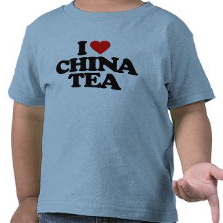 I LOVE CHINA TEA T SHIRTS