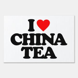 I LOVE CHINA TEA LAWN SIGN
