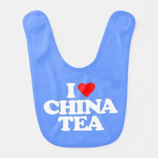 I LOVE CHINA TEA BABY BIBS