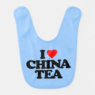 I LOVE CHINA TEA BIBS