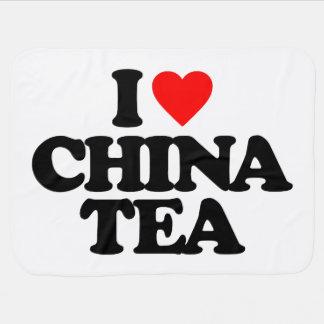 I LOVE CHINA TEA RECEIVING BLANKETS