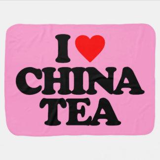 I LOVE CHINA TEA STROLLER BLANKETS