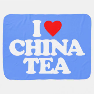 I LOVE CHINA TEA BABY BLANKET