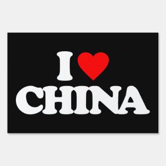 I LOVE CHINA SIGNS