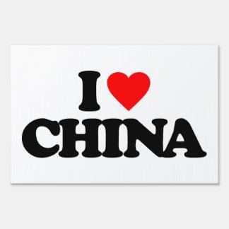 I LOVE CHINA SIGN
