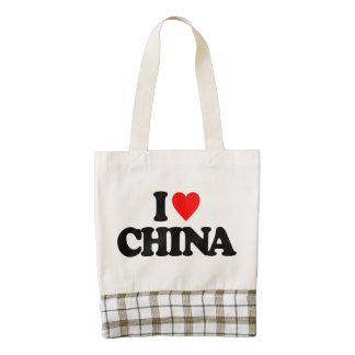 I LOVE CHINA ZAZZLE HEART TOTE BAG