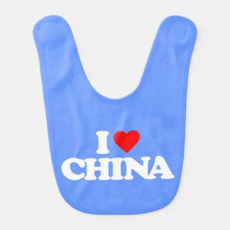 I LOVE CHINA BIBS