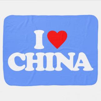 I LOVE CHINA BABY BLANKETS